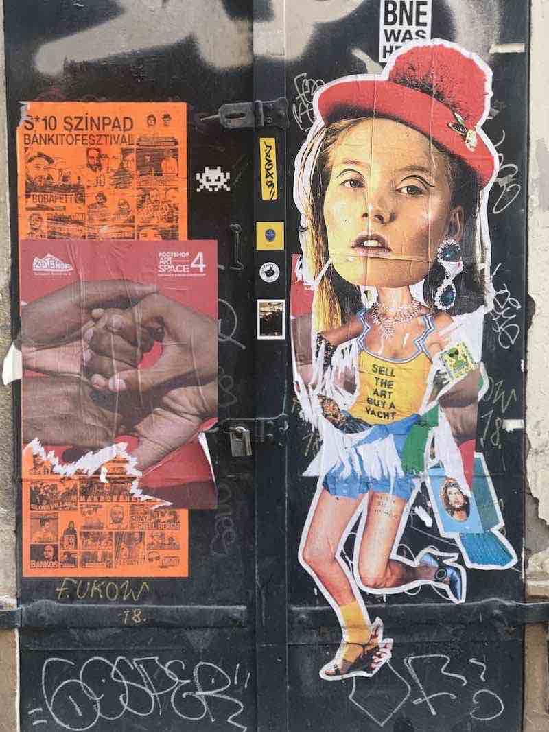 senza glutine a budapest street art