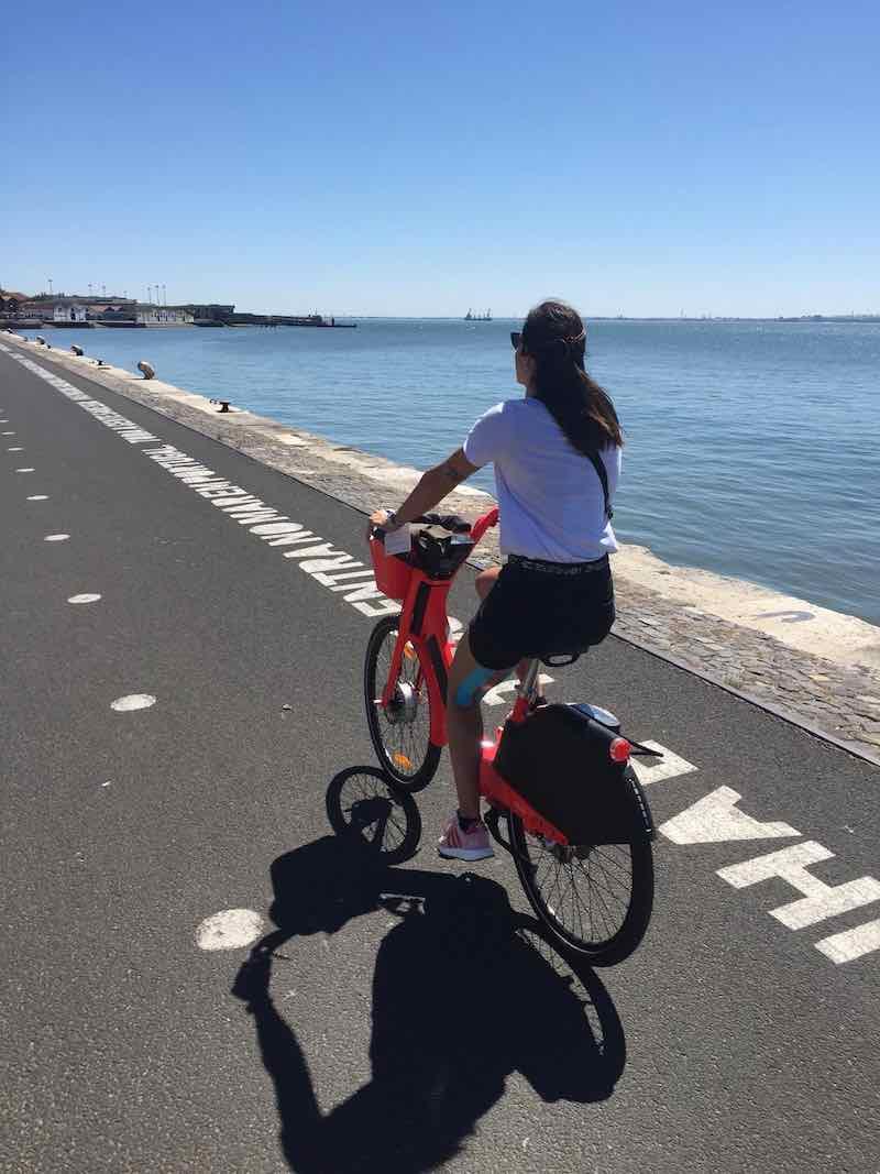 lisbona senza glutine io in bici