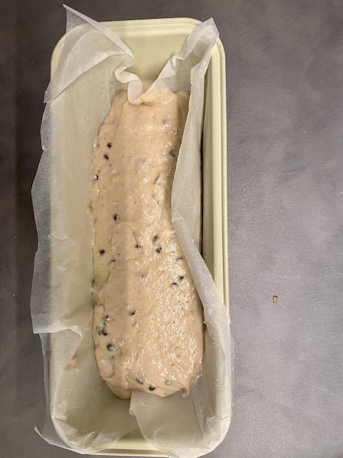 Banana Bread senza glutine impasto