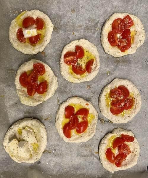 focaccine integrali senza glutine in teglia