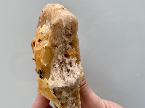 focaccine integrali senza glutine morso